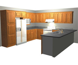 U Shaped Kitchen Cabinets | Kitchens and Designs